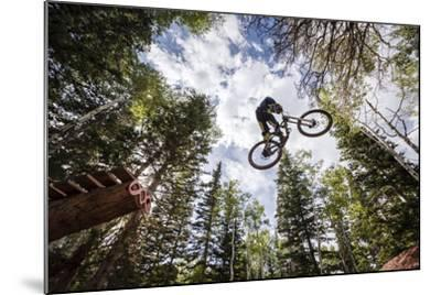 Mike Montgomery Jumping His Downhill Mountain Bike At Canyons Resort-Louis Arevalo-Mounted Photographic Print
