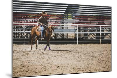 Brian Billings Exercising His Horse At The Oakley Rodeo Grounds, Oakley, Utah-Louis Arevalo-Mounted Photographic Print