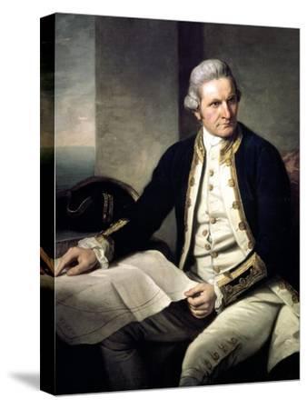 Portrait of Captain James Cook, 1775-76-Nathaniel Dance-Holland-Stretched Canvas Print