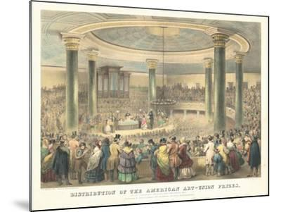 Distribution of the American Art-Union Prices-Francis D'Avignon-Mounted Giclee Print