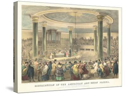 Distribution of the American Art-Union Prices-Francis D'Avignon-Stretched Canvas Print
