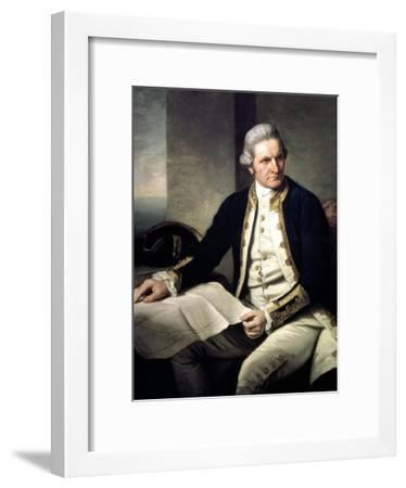Portrait of Captain James Cook, 1775-76-Nathaniel Dance-Holland-Framed Giclee Print