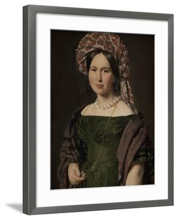 The artist's wife Cathrine, 1842-4-Christian-albrecht Jensen-Framed Giclee Print