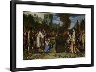 Orestes and Pylades Disputing at the Altar, 1614-Pieter Lastman-Framed Giclee Print