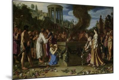 Orestes and Pylades Disputing at the Altar, 1614-Pieter Lastman-Mounted Giclee Print