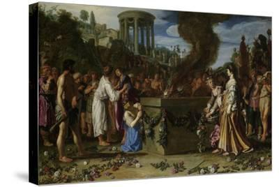 Orestes and Pylades Disputing at the Altar, 1614-Pieter Lastman-Stretched Canvas Print