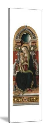 Madonna and Child Enthroned with Donor, 1470-Carlo Crivelli-Stretched Canvas Print
