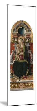 Madonna and Child Enthroned with Donor, 1470-Carlo Crivelli-Mounted Giclee Print