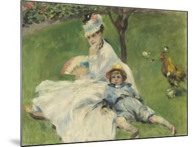 Madame Monet and Her Son, 1874-Pierre-Auguste Renoir-Mounted Giclee Print