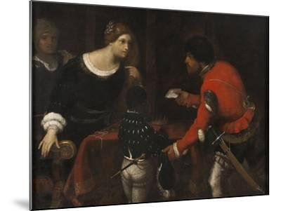 Caterina Cornaro, Queen of Cyprus, Receiving a Letter from the Council-Giuseppe Caletti-Mounted Giclee Print