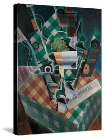 Still Life with Checked Tablecloth, 1915-Juan Gris-Stretched Canvas Print