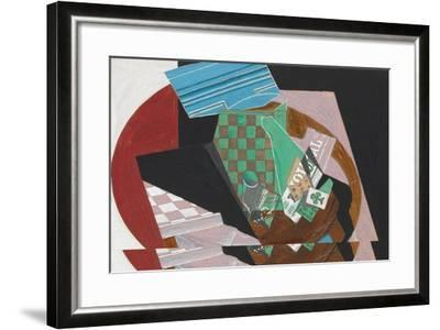 Checkerboard and Playing Cards, 1915-Juan Gris-Framed Giclee Print