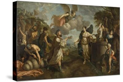 Eleazar and Rebekah-French School-Stretched Canvas Print