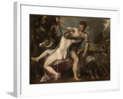 Venus and Adonis, c.1560-Titian-Framed Giclee Print
