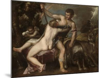 Venus and Adonis, c.1560-Titian-Mounted Giclee Print
