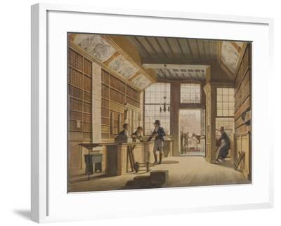 Shop of the Bookdealer Pieter Meijer Warnars on the Vijgendam in Amsterdam, 1820-Johannes Jelgerhuis-Framed Giclee Print