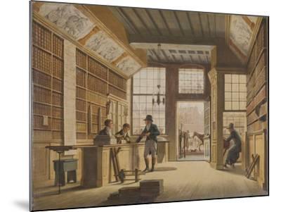 Shop of the Bookdealer Pieter Meijer Warnars on the Vijgendam in Amsterdam, 1820-Johannes Jelgerhuis-Mounted Giclee Print