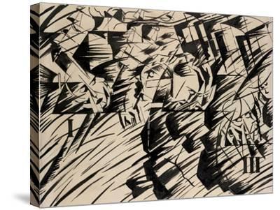 States of Mind: Those Who Go, 1912-Umberto Boccioni-Stretched Canvas Print