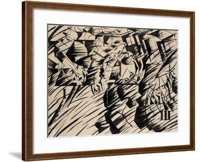 States of Mind: Those Who Go, 1912-Umberto Boccioni-Framed Giclee Print