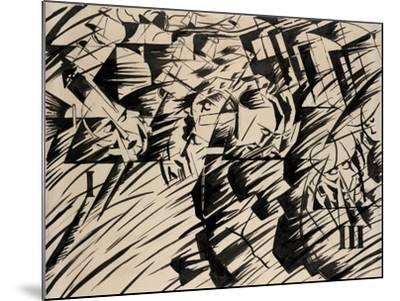States of Mind: Those Who Go, 1912-Umberto Boccioni-Mounted Giclee Print