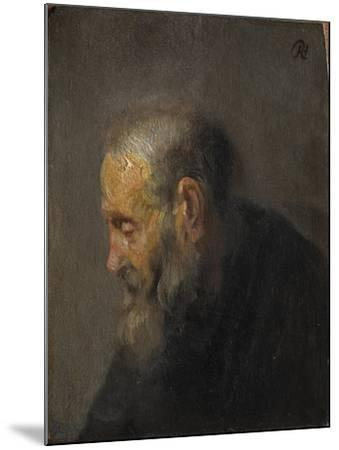 Study of an Old Man in Profile, c. 1630-Rembrandt van Rijn-Mounted Giclee Print