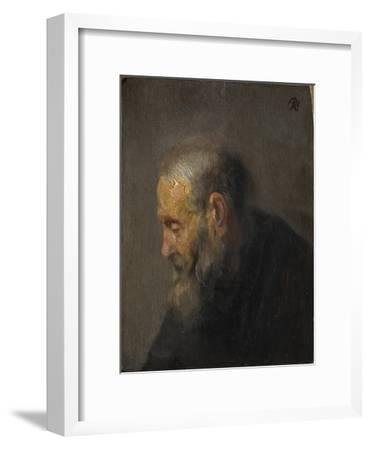 Study of an Old Man in Profile, c. 1630-Rembrandt van Rijn-Framed Giclee Print
