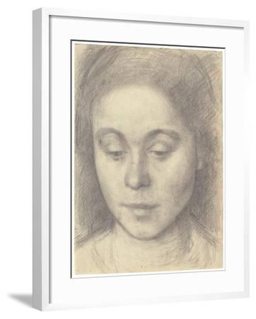 Portrait of Ida, the Artist's Wife, 1898-Vilhelm Hammershoi-Framed Giclee Print