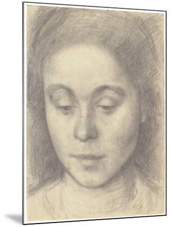 Portrait of Ida, the Artist's Wife, 1898-Vilhelm Hammershoi-Mounted Giclee Print