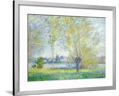 Willows at Vetheuil, 1880-Claude Monet-Framed Giclee Print