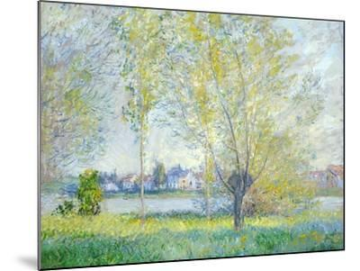 Willows at Vetheuil, 1880-Claude Monet-Mounted Giclee Print