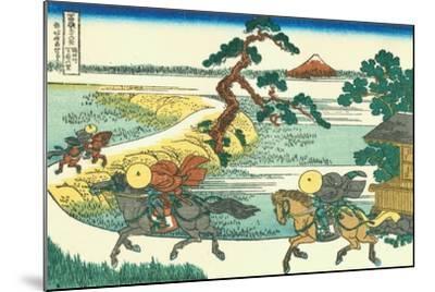Village of Sekiya at Sumida River, c.1830-Katsushika Hokusai-Mounted Giclee Print