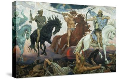 The Four Horsemen of the Apocalypse, 1887-Victor Mikhailovich Vasnetsov-Stretched Canvas Print