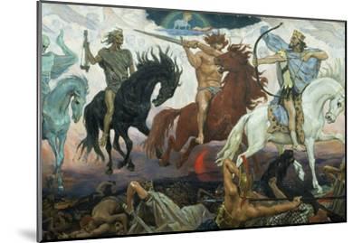 The Four Horsemen of the Apocalypse, 1887-Victor Mikhailovich Vasnetsov-Mounted Giclee Print