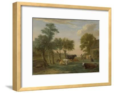 Cows in a Meadow Near a Farm, 1653-Paulus Potter-Framed Giclee Print