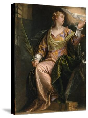 Saint Catherine of Alexandria in Prison, c.1580-5-Veronese-Stretched Canvas Print