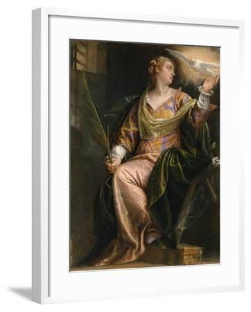 Saint Catherine of Alexandria in Prison, c.1580-5-Veronese-Framed Giclee Print