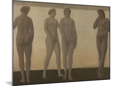Artemis, 1893-94-Vilhelm Hammershoi-Mounted Giclee Print