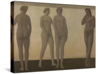 Artemis, 1893-94-Vilhelm Hammershoi-Stretched Canvas Print
