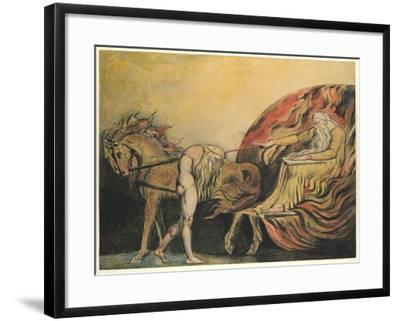 God Judging Adam, c.1795-William Blake-Framed Giclee Print