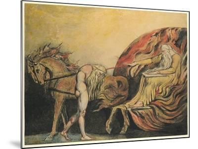 God Judging Adam, c.1795-William Blake-Mounted Giclee Print