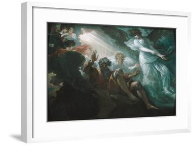 Moses Shown the Promised Land, 1801-Benjamin West-Framed Giclee Print