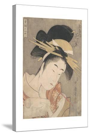 Hanamurasaki of the Tamaya, c.1790-Kitagawa Utamaro-Stretched Canvas Print
