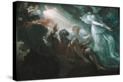 Moses Shown the Promised Land, 1801-Benjamin West-Stretched Canvas Print