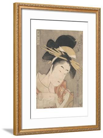 Hanamurasaki of the Tamaya, c.1790-Kitagawa Utamaro-Framed Giclee Print
