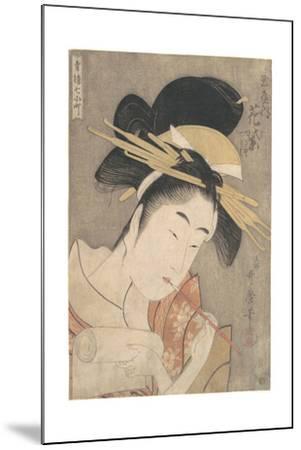 Hanamurasaki of the Tamaya, c.1790-Kitagawa Utamaro-Mounted Giclee Print