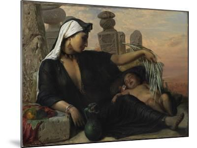 An Egyptian Fellah Woman with her Baby, 1872.-Elisabeth Maria Anna Jerichau-Baumann-Mounted Giclee Print