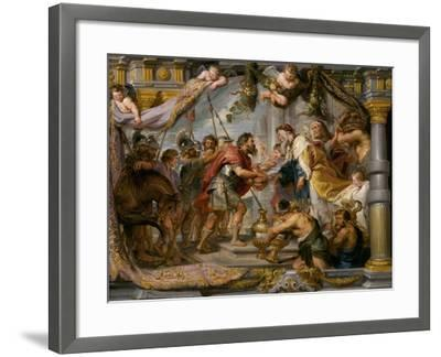 The Meeting of Abraham and Melchizedek, c.1626-Peter Paul Rubens-Framed Giclee Print