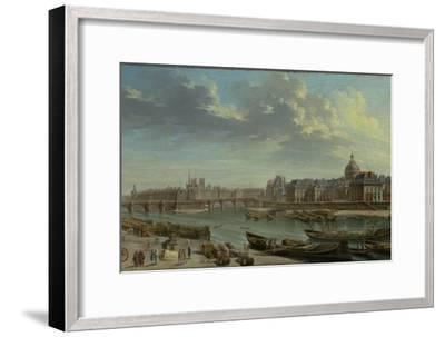 A View of Paris with the Ile de la Cité, 1763-Nicolas Jean Baptiste Raguenet-Framed Giclee Print