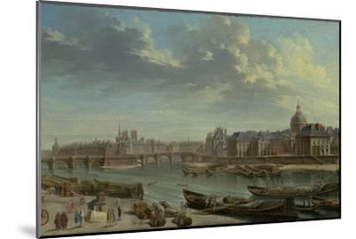 A View of Paris with the Ile de la Cité, 1763-Nicolas Jean Baptiste Raguenet-Mounted Giclee Print