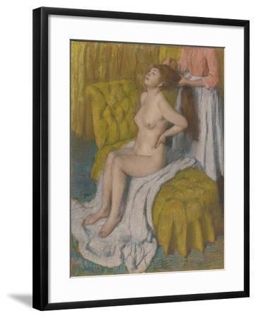 Woman Having Hair Combed, c.1886-88-Edgar Degas-Framed Giclee Print